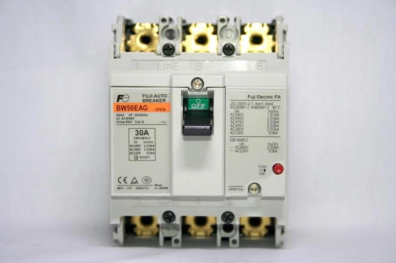 FUJI 富士 無熔絲 開關 斷路器 BW50EAG 3P 30A 日本製 - 露天拍賣