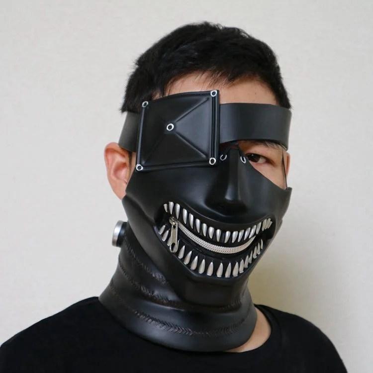 新品熱賣金木研電影東京食尸鬼面具面罩口罩喰種面具cos動漫日系道具周邊 - 露天拍賣