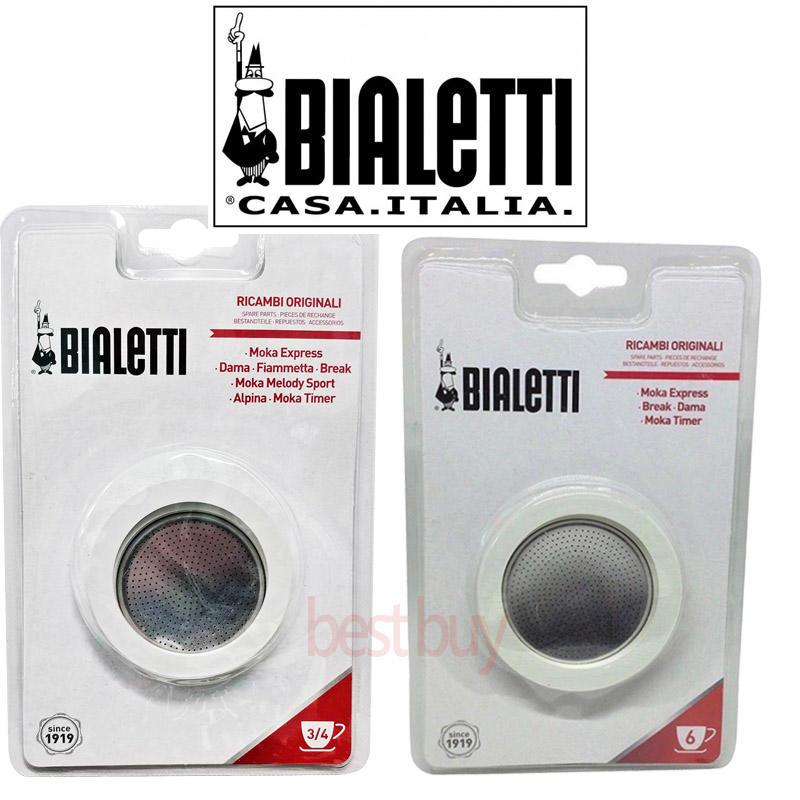 義大利 Bialetti 3cup 4cup 6cup 經典摩卡壺 原廠墊圈x 3個 濾片x1 任選 - 露天拍賣