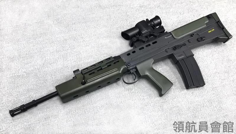 【領航員會館】臺灣製造 HFC 英軍 L85 SA90 塑膠 拉一打一空氣槍 狙擊版 軍綠 長槍步槍卡賓槍BB槍 - 露天拍賣
