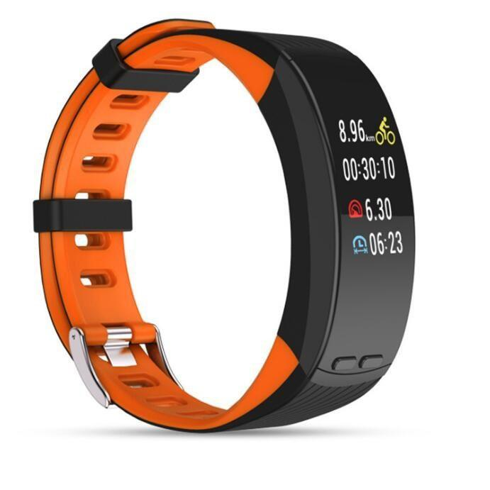 GPS定位 大屏P5智慧手環 戶外跑步騎行運動手環 測心率 海拔溫度 運動模式智慧手環 4342 - 露天拍賣