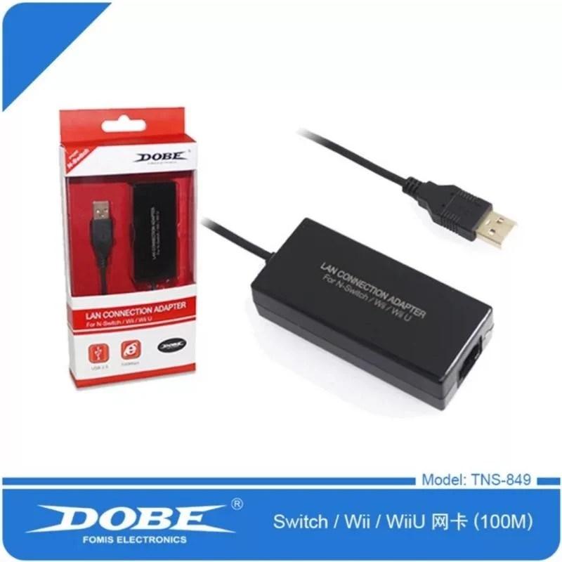 全新 DOBE 任天堂 NS SWITCH 有線網卡 網路轉接器 100M - 露天拍賣