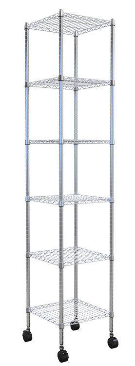 附輪六層架45X45X180CM 電鍍 鍍鉻 鐵架 鐵力士架 - 露天拍賣