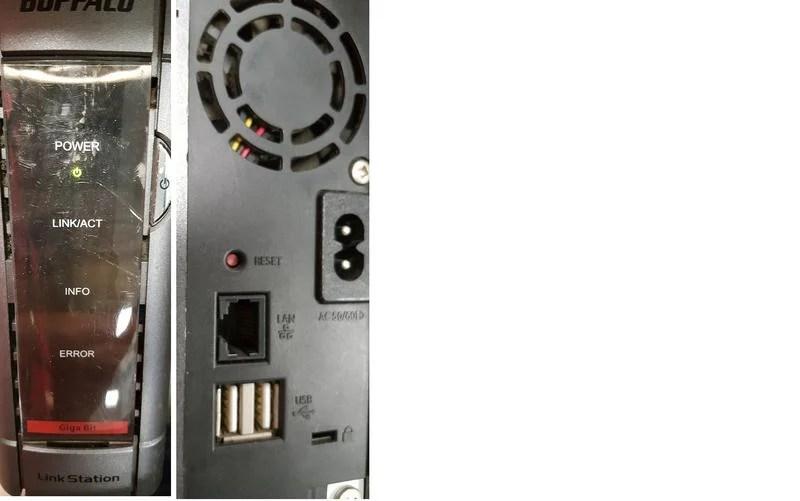 二手日本制Buffalo HS-DH500GL NAS (未測試上電有反應附500G硬碟副廠變壓器)   露天拍賣