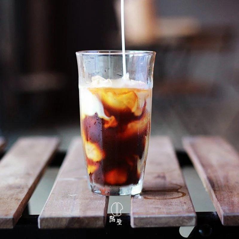 隔壁工坊 冰咖啡杯 啤杯 冰拿鐵杯 冰美式 玻璃杯 水杯300 - 露天拍賣