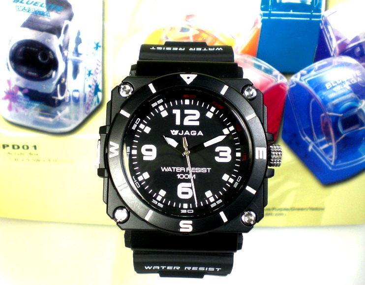 地球儀鐘錶【JAGA】冷光指針錶 日韓同步流行 似G-SHOCK 酷炫有型【↘420】AQ934黑 - 露天拍賣