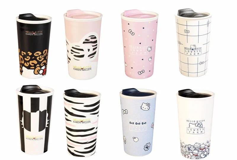 【康妮屋】 7-11 HELLO KITTY三美聯名 限量雙層陶瓷隨行杯 單售 - 露天拍賣