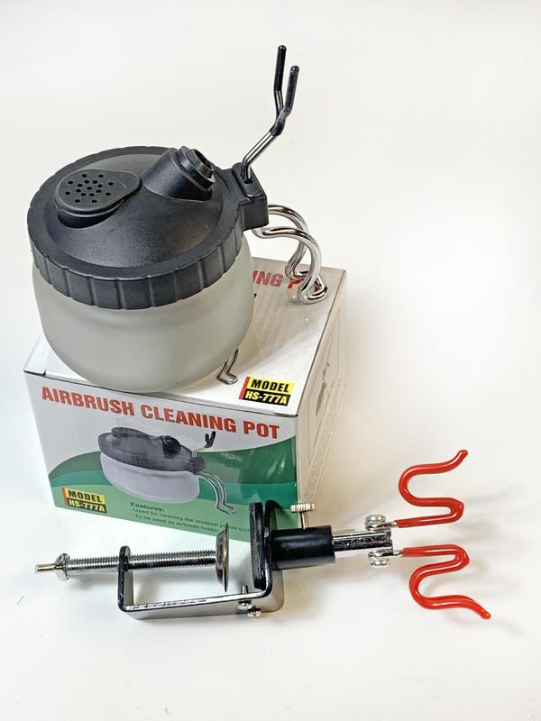 合購優惠 噴筆清潔換色專用 噴筆清洗壺+噴筆架 - 露天拍賣