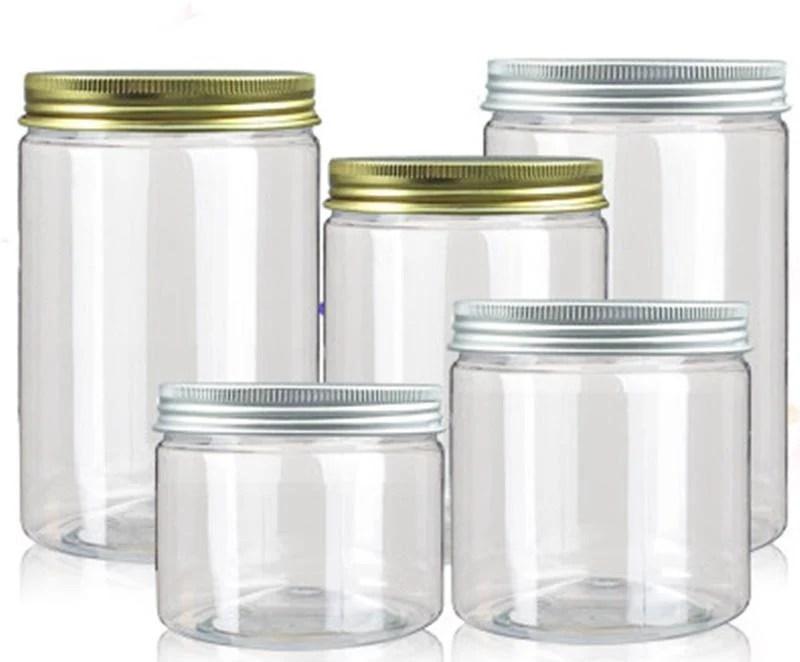 直徑8.5*高6.5cm(210個)銀鋁蓋密封罐 PET塑膠罐 透明罐 收納罐 - 露天拍賣