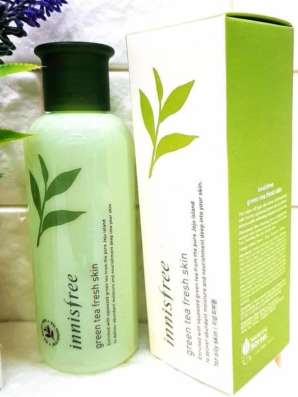 【 玟妹 】韓國innisfree 綠茶清爽化妝水 green tea fresh skin 200ml - 露天拍賣