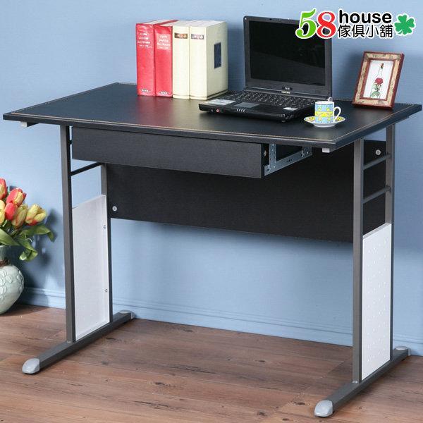 58傢俱小舖:巧思辦公桌-100cm仿馬鞍皮桌面(附抽屜) 工作桌 書桌 電腦桌-PC-1220A-2 - 露天拍賣