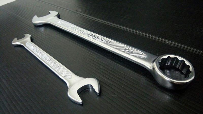 高扭力! KAWATA 強力 開口板手 22*24 mm 歐式薄型 雙開口板手 鉻釩鋼熱鍛 22x24 止滑專利 不打滑 - 露天拍賣