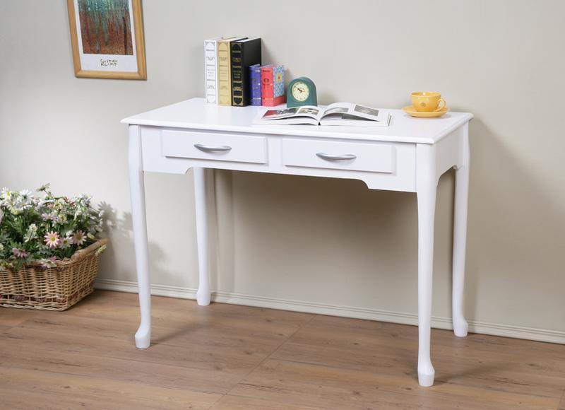 *綠屋家具館*【DE1050】100cm優雅二抽書桌,電腦桌~可加購玻璃 - 露天拍賣