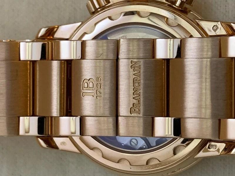 寶鉑 Blancpain 18k RG Ltd Edition50 Leman Flyback Chronograph - 露天拍賣