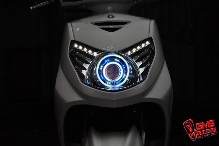 GMS-M6S 勁戰二代合法認證大燈 GAMMAS GMS-D2版六代魚眼 歐司朗燈泡 (含驗車文件) 嘉瑪斯總公司貨 - 露天拍賣