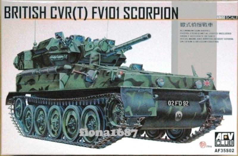1/35 AFV 英國 FV101 SCORPION 蠍式偵搜戰車 - 露天拍賣
