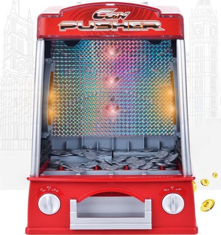 聲光迷你推幣機~桌上型迷你推幣機~ 益智玩具~ 童心玩具1館 - 露天拍賣