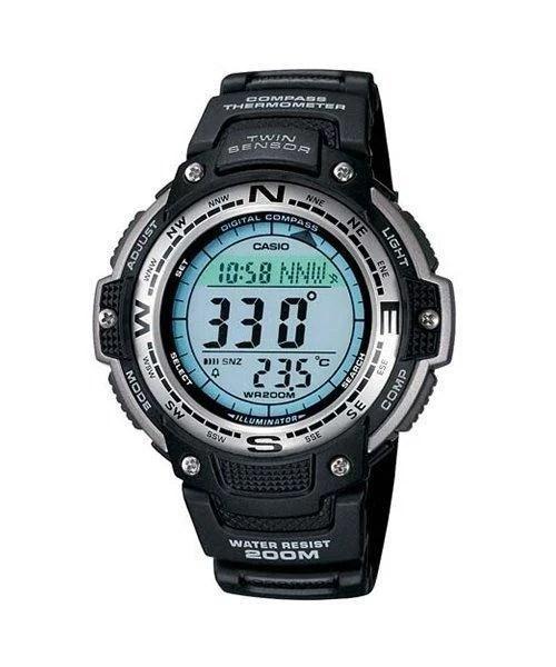 臺灣CASIO手錶專賣G-SHOCK溫度 方位SGW-100-1 全新公司貨附發票~ - 露天拍賣