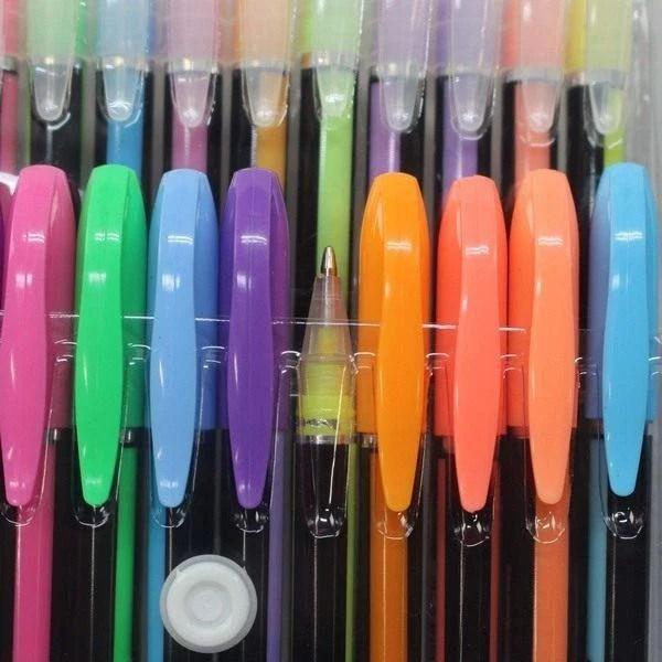 #450 最炫 48色 彩色中性筆 閃光筆 粉彩筆 金屬筆 螢光筆 記筆 糖果色 標記號筆 劃重點 彩色 創意DIY - 露天拍賣