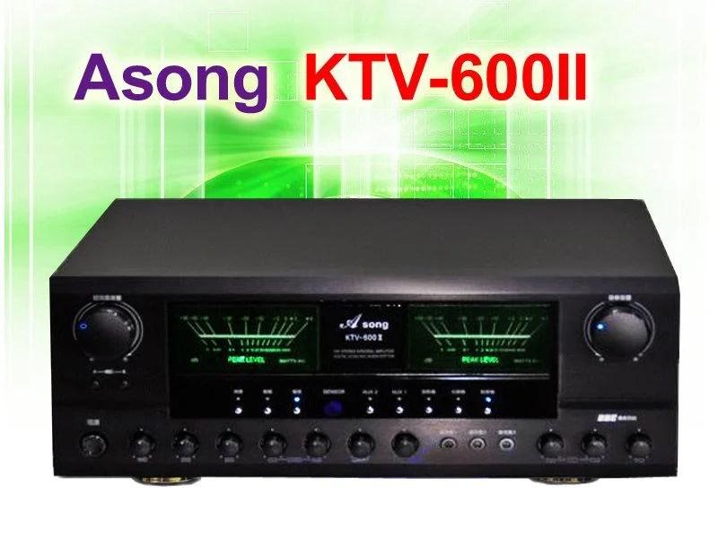 【綦勝音響批發】Asong 卡拉OK迴音立體聲擴大機 KTV-600II 功率輸出:200W+200W - 露天拍賣