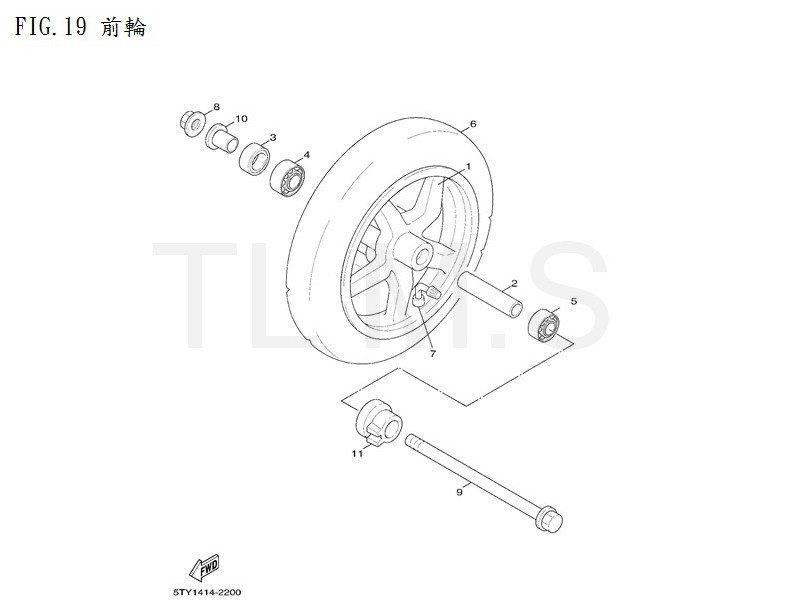 【TL機車雜貨店】YAMAHA 山葉 新勁戰125 4C6 New Cygnus 原廠 前輪圈 碼表齒輪 前輪軸零件