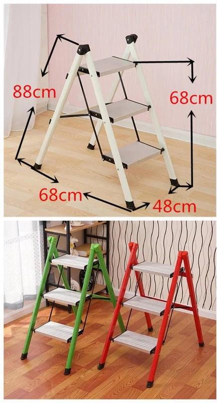 免運費 輕巧 9方便收納 糖果色 三階梯 三層腳梯 鋁合金踏板 折梯 摺疊梯 折疊梯 二階梯 二層 矮梯 鐵梯 A字梯 ...