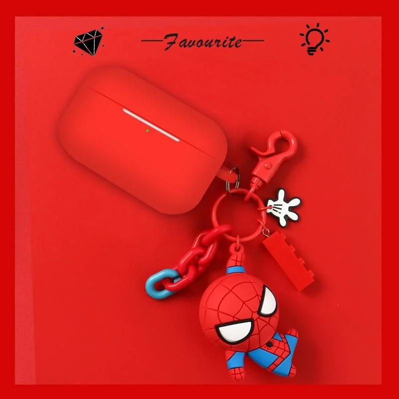 漫威周邊 AirPods Pro 耳機保護套 蘋果3代 鋼鐵俠 耳機保護殼 蜘蛛俠 軟矽膠套 1/2代 卡通可愛掛件 - 露天拍賣