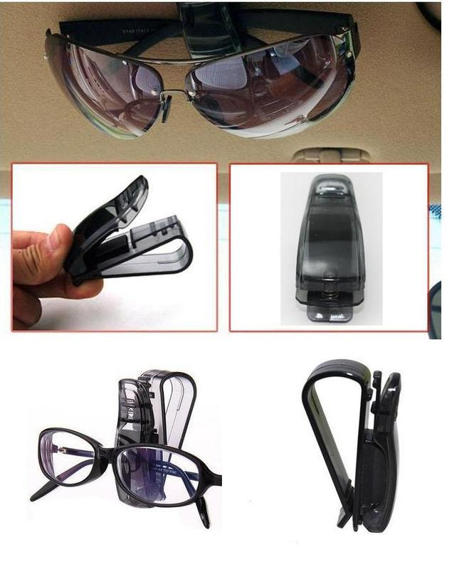 多多倉庫 S型車用眼鏡夾 S夾 太陽眼鏡夾 汽車眼鏡夾 票據夾 遮陽板夾 遮陽板眼鏡夾 多功能固定夾 證件夾 ...