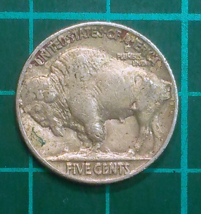 美國 1937年 野牛 印地安人頭像 FIVE CENTS 錢幣@ A689 - 露天拍賣