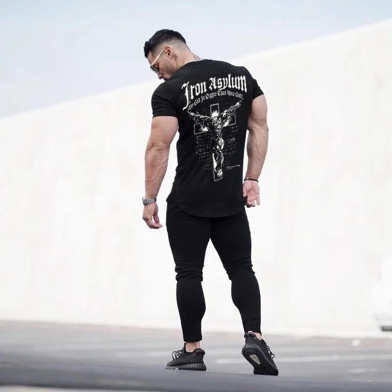 G04006 王者天下 GYM KING. 熱貼式 大圖騰 短袖 棉T T恤 休閒 運動 健美 健身 焦點服飾 | 露天拍賣