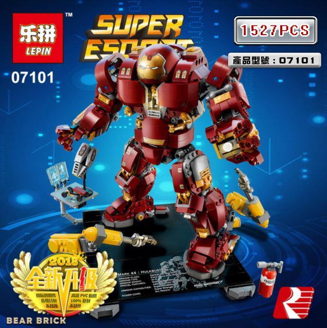 【預購】得高7134 / 帶燈光件 鋼鐵俠機甲反浩克裝甲 / lego76105 樂拼07101 | 露天拍賣