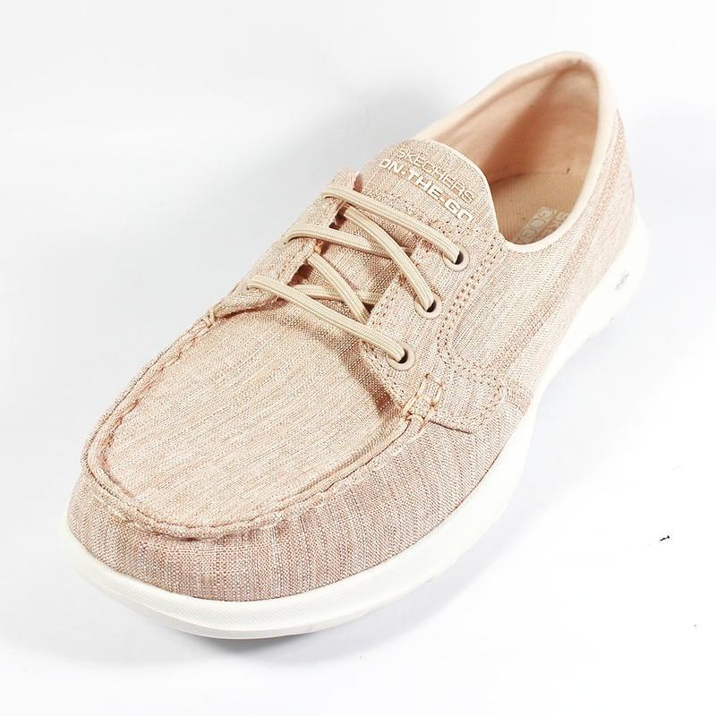 (A5) SKECHERS 女 休閒鞋 GoWalkLite-ISLA 免綁帶 健走鞋 瑜珈鞋墊 粉 15433LTPK - 露天拍賣