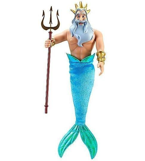 Disney迪士尼公主The Little Mermaid小美人魚川頓國王(Ken肯尼)Barbie芭比娃娃 - 露天拍賣