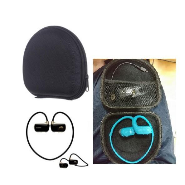 ( 實裝成品圖 ) 可裝 Sony SBH70 SBH-70 藍芽耳機 耳機收納包 耳機收納盒 耳機收納網包 - 露天拍賣