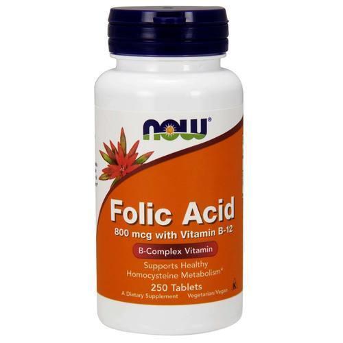 NOW 葉酸800mcg+維他命B12 250粒 素食 孕婦 Folic Acid - 露天拍賣