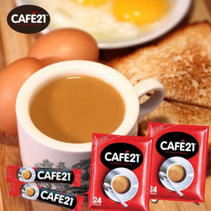 3 號味蕾 ~《CAFE21》21世紀白咖啡(24包入)特價145元...2合1即溶咖啡....21世紀無糖咖啡 露營 - 露天拍賣