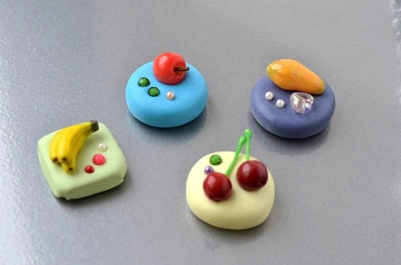 鮮果磁鐵 ~~樹脂土(黏土) 超輕土 手工 禮物 教師節 聖誕節 畢業 禮品*幸福魔坊* - 露天拍賣