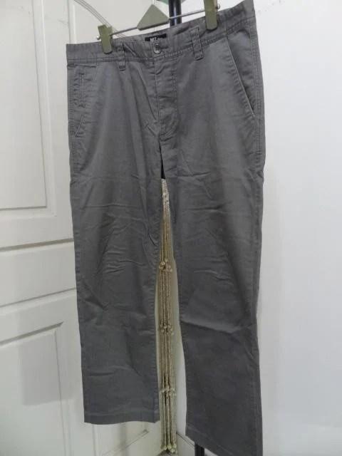 《想不到の舖》NET 專櫃 34碼 灰色 休閒褲 /直筒褲 /長褲 9成新 - 露天拍賣