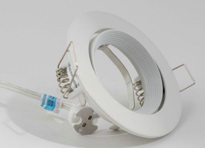 PHILIPS 飛利浦 QBS024 MR16 GU5.3 可調整角度 崁燈 射燈 天花燈 LED 筒燈 可調整 白 - 露天拍賣