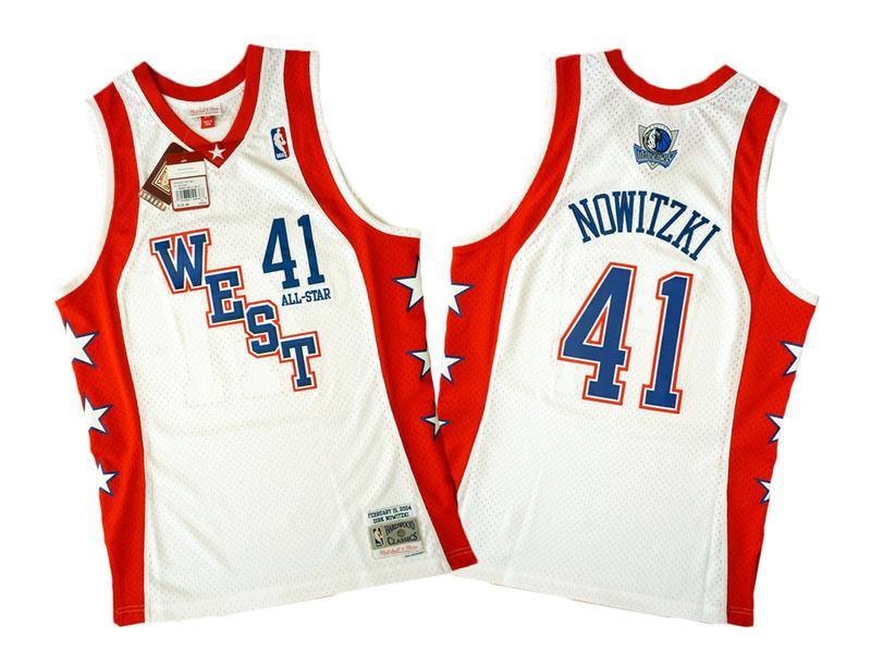 Mitchell & Ness 2004 年全明星賽 Dirk Nowitzki 復刻 Swingman 球衣 - 露天拍賣