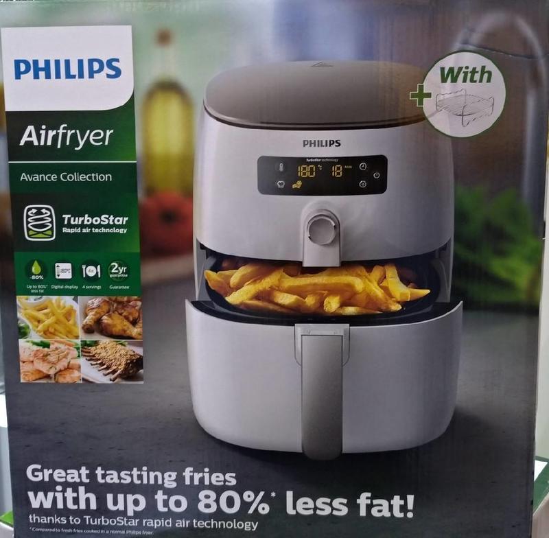 *現貨*飛利浦 PHILIPS 渦輪氣旋健康氣炸鍋 HD9642 贈-煎烤盤HD9940+烘烤鍋HD992+4支串籤 - 露天拍賣