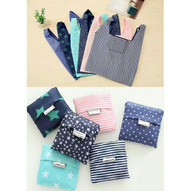 時尚多款可折疊印花手提袋 方便攜帶 加大尼龍收納袋雜物袋 環保超市購物袋 - 露天拍賣