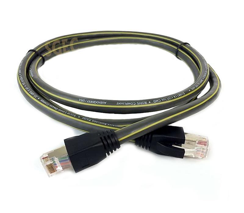 視紀音響 AudioQuest 美國 PEARL CAT700 手工網路線 1米 加網路頭 2顆 CAT7 PLUGS - 露天拍賣