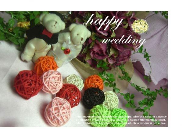 快樂星商城*各式迷你彩色藤球每顆只要7元/攝影/婚禮佈置/創意小物等 - 露天拍賣