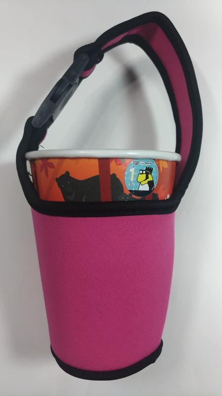 全新 粉紅色 飲料杯袋 環保杯袋 保溫瓶提袋 環保杯套 提帶 潛水布材質 扣環式設計 臺中市北區可面交 - 露天拍賣