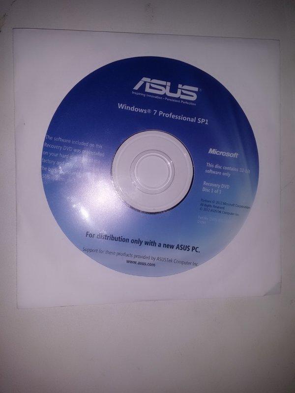 ASUS Windows 7 Pro 中文 原版還原光碟 32位元 | 露天拍賣
