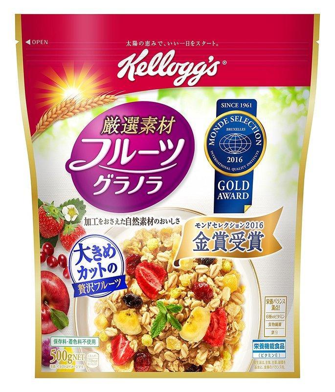 世界品質金獎~日本KELLOGG'S超飽滿水果果乾麥片500G 日清NISSIN CALBEE可參考 - 露天拍賣