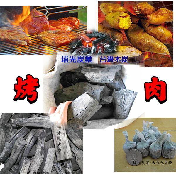 家庭 烤肉 木炭限定版組合 5KG臺灣龍眼炭 + 5KG燒烤櫸木備長炭 + 大粒火種約20粒 - 露天拍賣