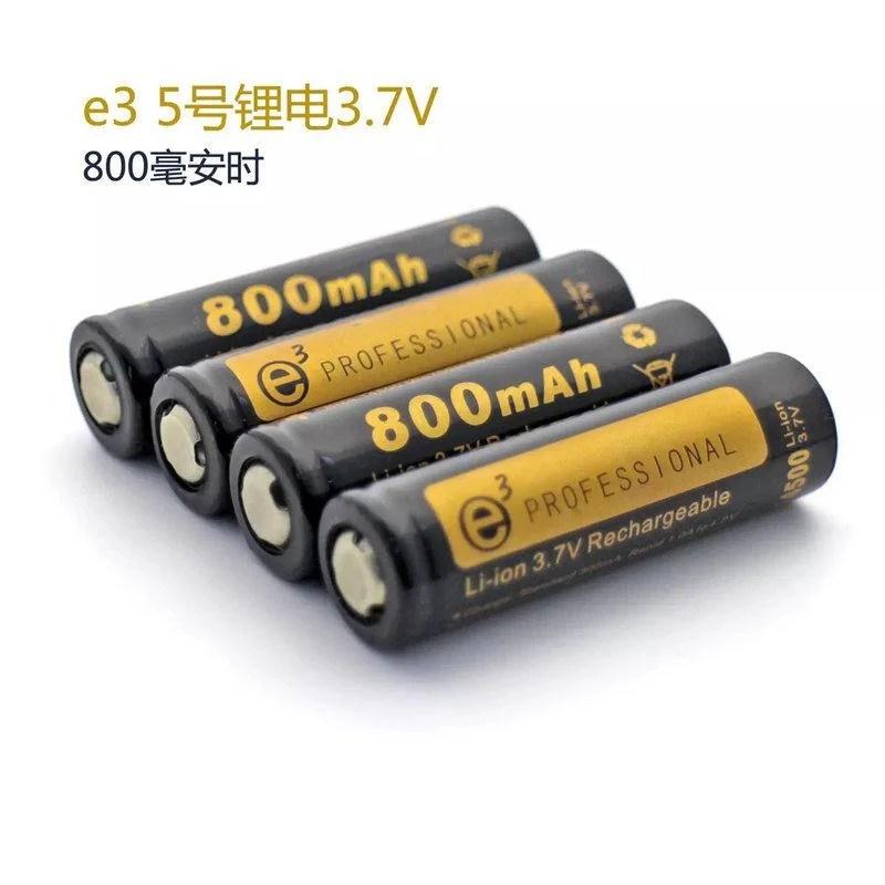 (1只) e3 3號鋰電池 14500 鋰電池 3.7v 800mah 充電電池 - 露天拍賣