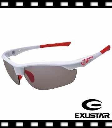 【免運費】2018 最新 EXUSTAR 全視線 變色鏡片防風太陽眼鏡~ 白/紅 原價1980元特價1680元~盛恩單車 - 露天拍賣